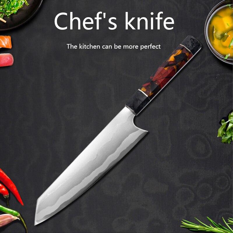 Cuchillo de cocina profesional de acero inoxidable 440C G10, cuchillo de carnicero,...