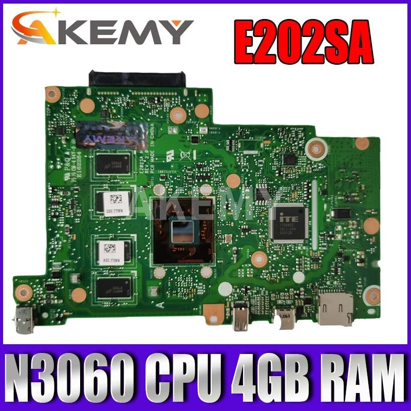 90NL0050-R00080 لوحة رئيسية جديدة E202SA لأجهزة الكمبيوتر المحمول Asus EeeBook E202S E202SA اللوحة الأم N3060 وحدة المعالجة المركزية 4 جيجابايت رام