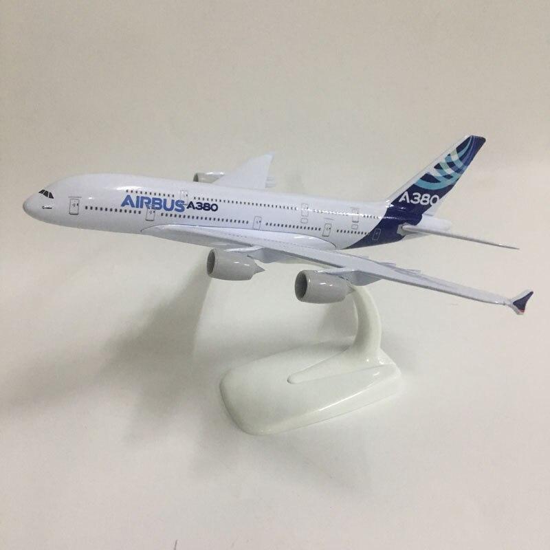 JASON TUTU 20cm modelo Original Airbus A380 modelo de avión Modelo 1 300 Metal fundido aviones de juguetes regalo Collec