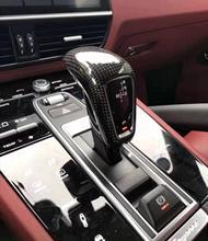 Tête de boîte de vitesses noir mat   Pour Porsche Cayenne 2018 2019 couvercle de cadre et poignée en fiber de carbone