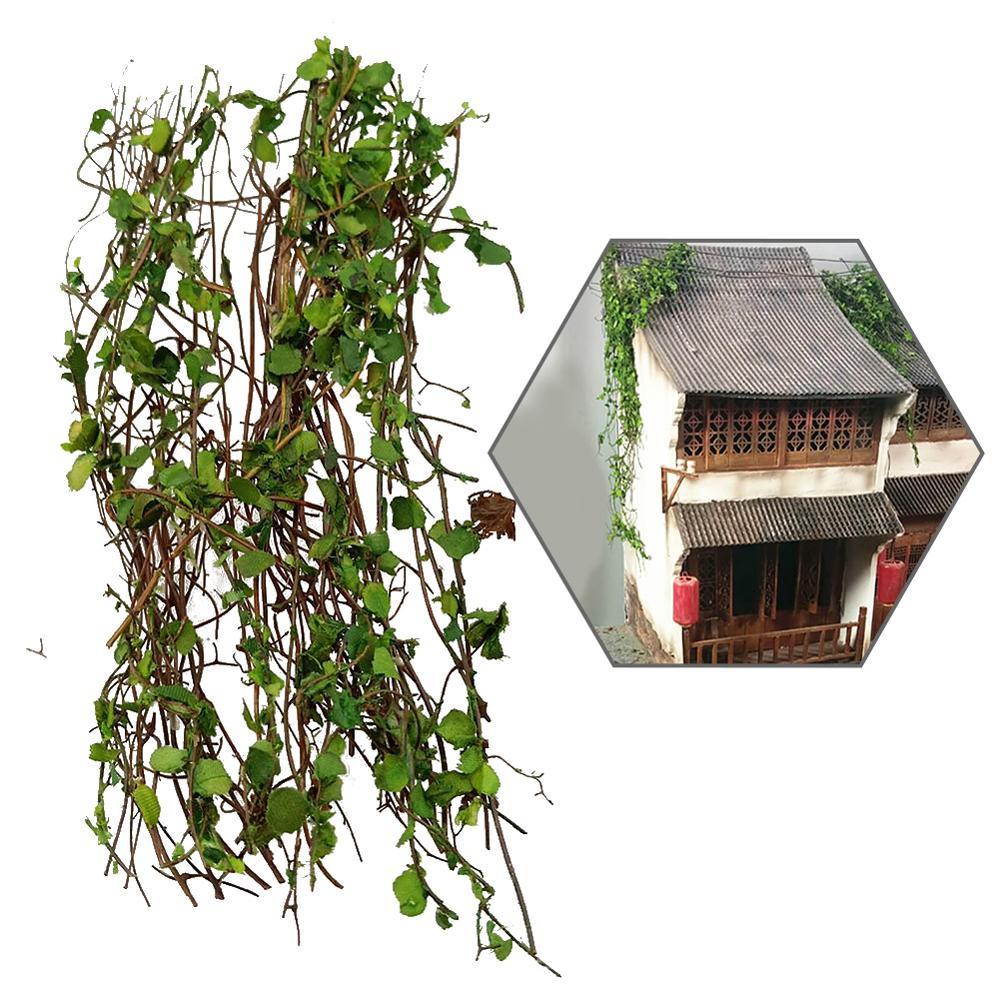 Simulación en miniatura modelo de escenario de vid simulación de montaña Tigre vegetal DIY escena en miniatura modificación de materiales PJ02