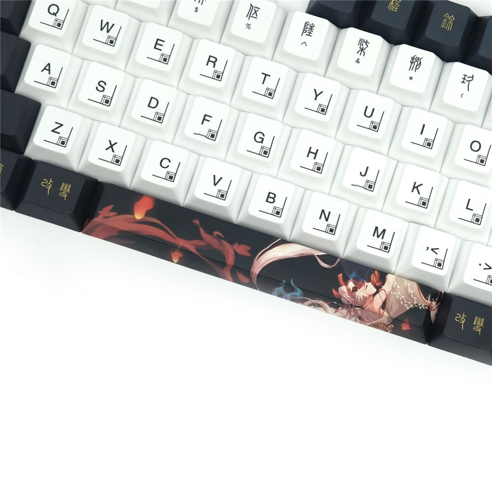 1 Set PBT 5 Sides Dye Subbed Key Caps For MX Switch Mechanical Keyboard Cherry Profile Keycaps For Customized Keyboard enlarge