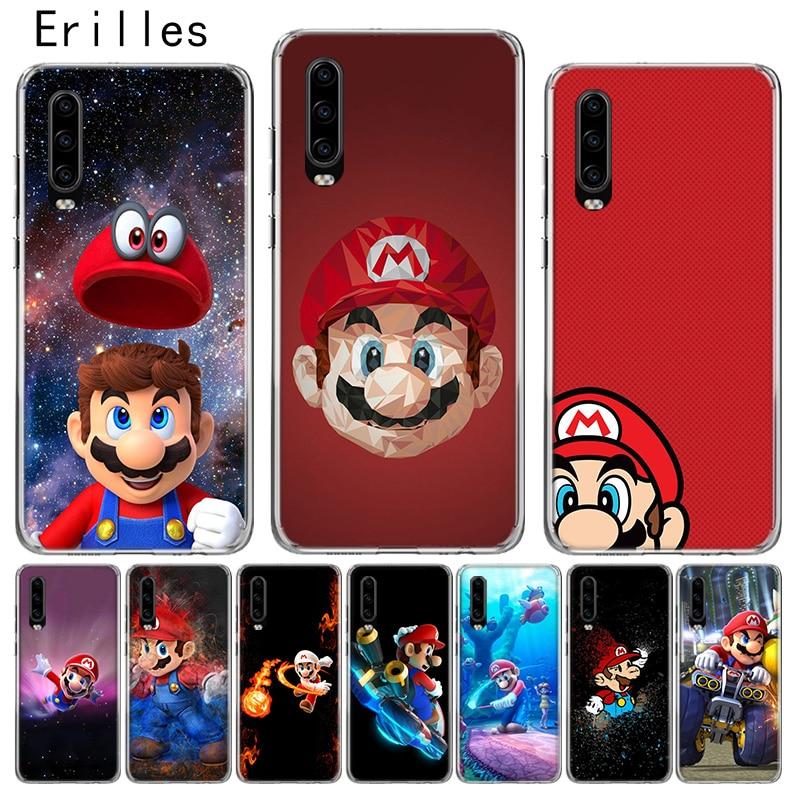 Erilles Cartoon Super Marios Case For Honor 10 lite Cover For Huawei 8X 9X 20 lite 20i V20 Soft Shell Y5 Y6 Y7 Y9 2019 Shell