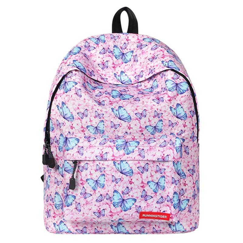 Cute Backpack Bag Colorful Backpack Butterfly Printing School Bags For Teenage Girl 2019 School Shoulder Bag Waterproof Bookbag 2018 life is strange backpack with butterfly pattern shoulder bag