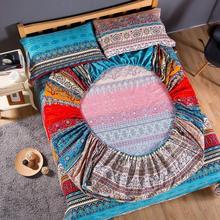 Bohemian katoenen Hoeslaken Matrashoes wens kussensloop Thuis Textiel queen size bed linnen Cover