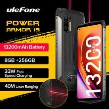 "Ulefone Power Armor 13 13200mAh Rugged Phone 256GB Android 11 Waterproof Smartphone 6.81"" 2.4G/5G"