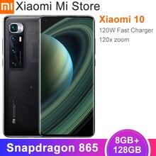 Téléphone smartphone original Xiaomi Mi 10 ultra, avec caméra et Zoom 120X, affichage à 120 Hz, snapdragon 865, octa core 48MP, 8 Go de Ram et 128 Go de Rom
