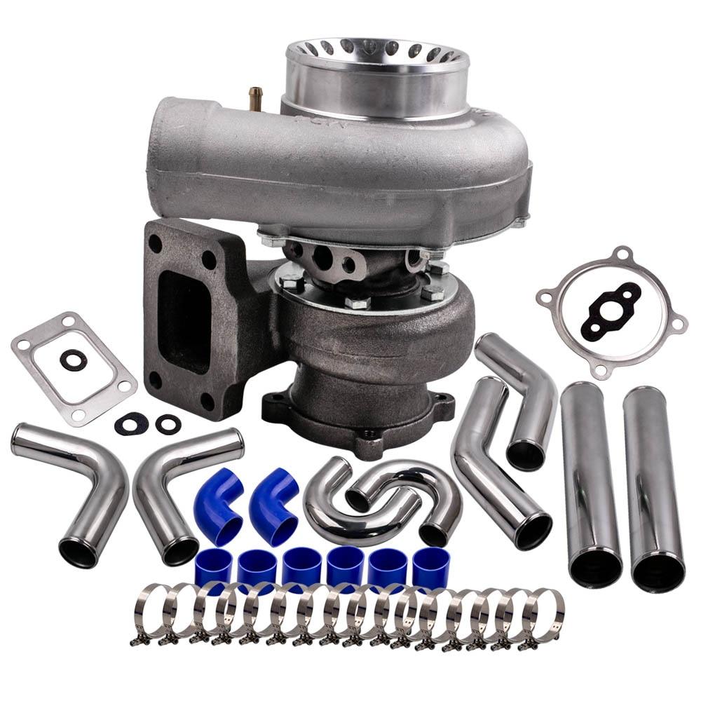 GT35 GT3582 Turbo Intercooler Pipe Kit 76mm For Nissan Safari Patrol 4.2L TD42 Diesel GQ Y60 Universal Turbocharger Anti Surge