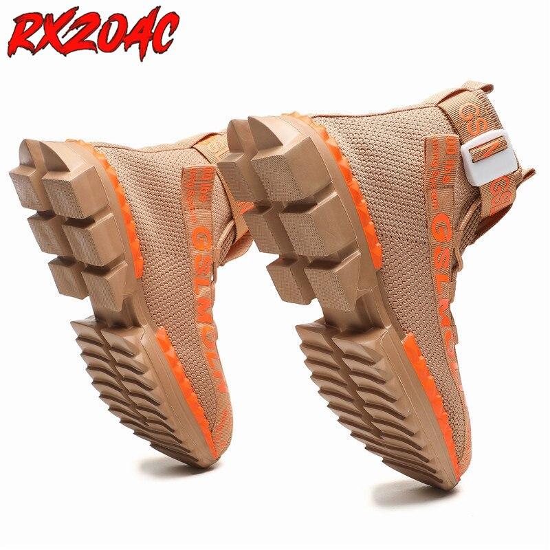 Высокие мужские кроссовки, легкая мягкая спортивная обувь на платформе, удобные слипоны, дышащая сетчатая обувь для бега, большие размеры L30