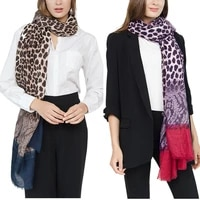 winter warm fashion leopard lace pattern large scarves women thick long cashmere winter wool blend plaid scarf shawl wrap scarf