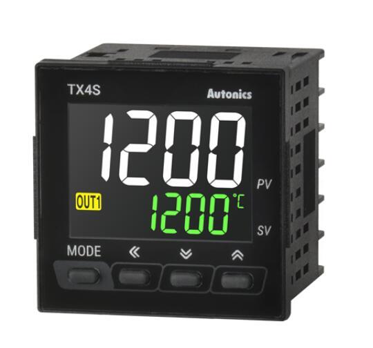 TX4S-24R التحكم في درجة الحرارة ، 1/16 الدين ، شاشة الكريستال السائل 4 أرقام ، التحكم بيد ، إخراج التتابع ، 2 إنذار الإخراج ، 100-240 فاك 50/60Hz