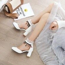 2020 حجم كبير عالية الكعب البوهيمي حذاء من الجلد امرأة قطيع قصيرة أفخم سستة سلسلة حبة هامش التطريز البدو الأحذية الإناث