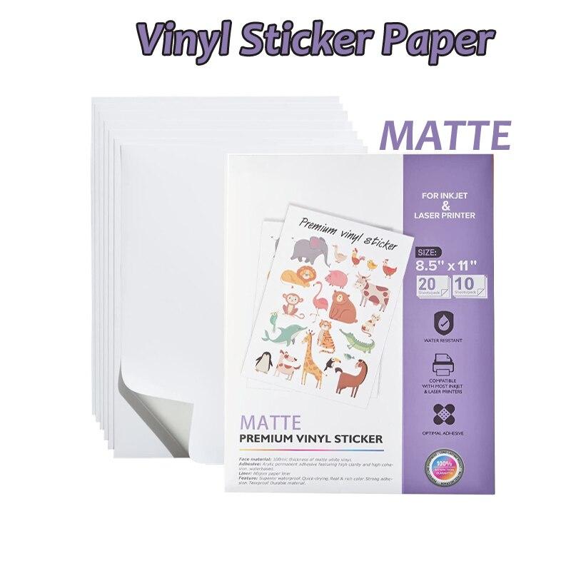 A4 Высококачественная фотобумага 10 дюймов 20 матовых белых водонепроницаемых переводных листов для струйного и лазерного принтера