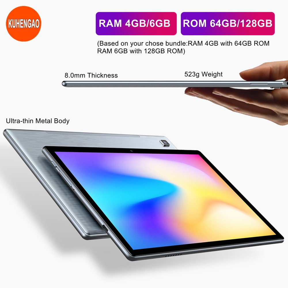 AI Tablets Network 1920x1200 Dual-Wifi SC9863A Octa-Core Android AI PC RAM 4GB/6GB ROM64GB/128GB Tablet 10.1 enlarge
