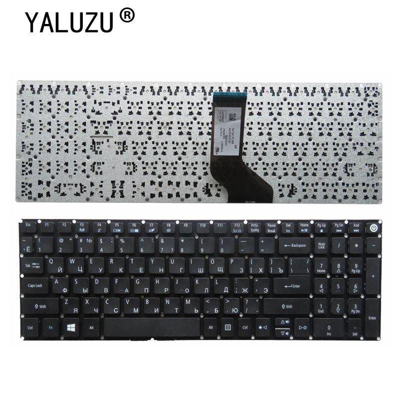 YALUZU ruso teclado del ordenador portátil para Acer Aspire E5-572 E5-572G E5-572T E5-573 E5-573G E5-573T AEZRTG00210 AEZRTR01010 negro.