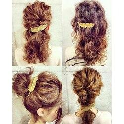 3 arten Blatt Feder Haar Clip Haarspange Bobby Pins Frauen Haar Zubehör Mode Süße Graceful Hairgrip1PCS
