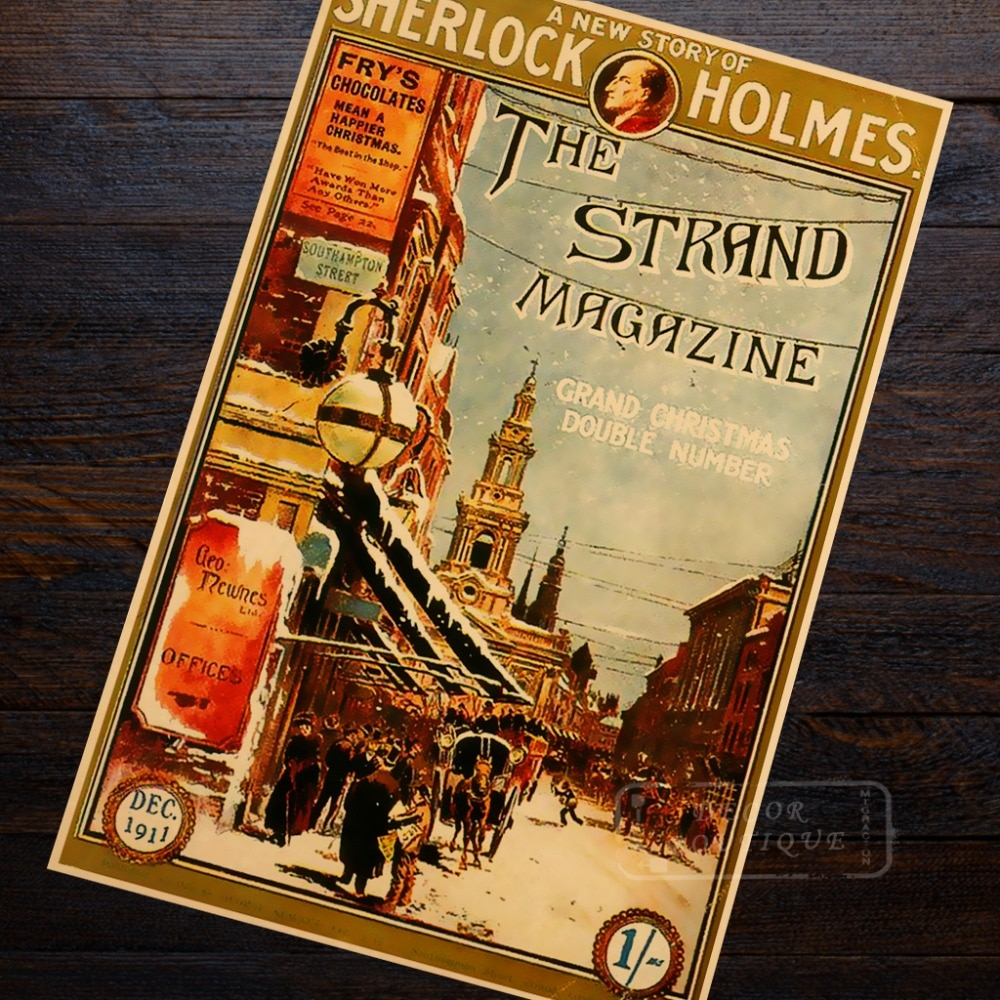 Póster de la serie SHERLOCK HOLMES THE STRAND, Detective Conan, Gosho, Aoyama, lienzo Retro Vintage, decoración artística para pared, pósteres para casa
