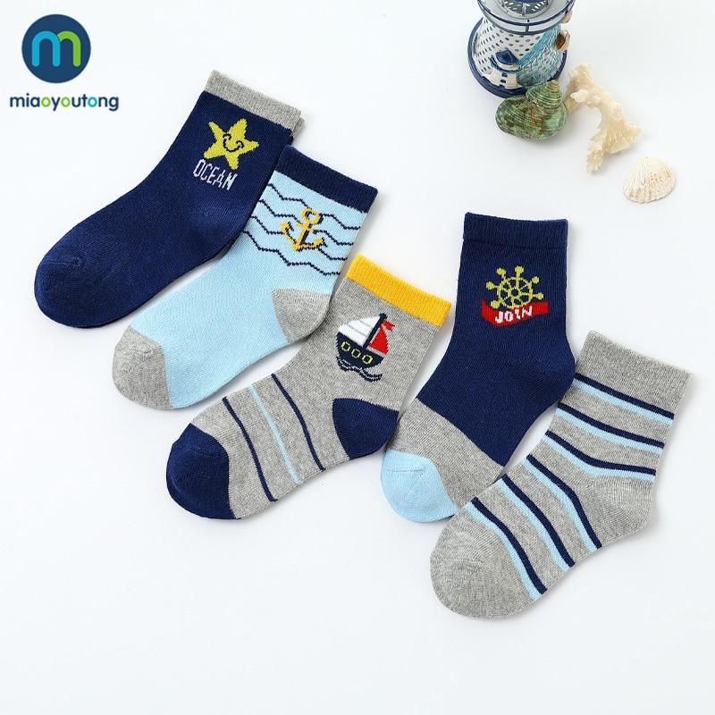 5 пар/лот, мягкие хлопковые детские Носки с рисунком лодочки для маленьких мальчиков и девочек, новогодние носки теплые носки женские, Miaoyoutong