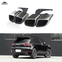 stainless steel tail exhaust tips muffler pipe for porsche macan 2014 2017 macan s turbo stainless steel mufflers 2pcs