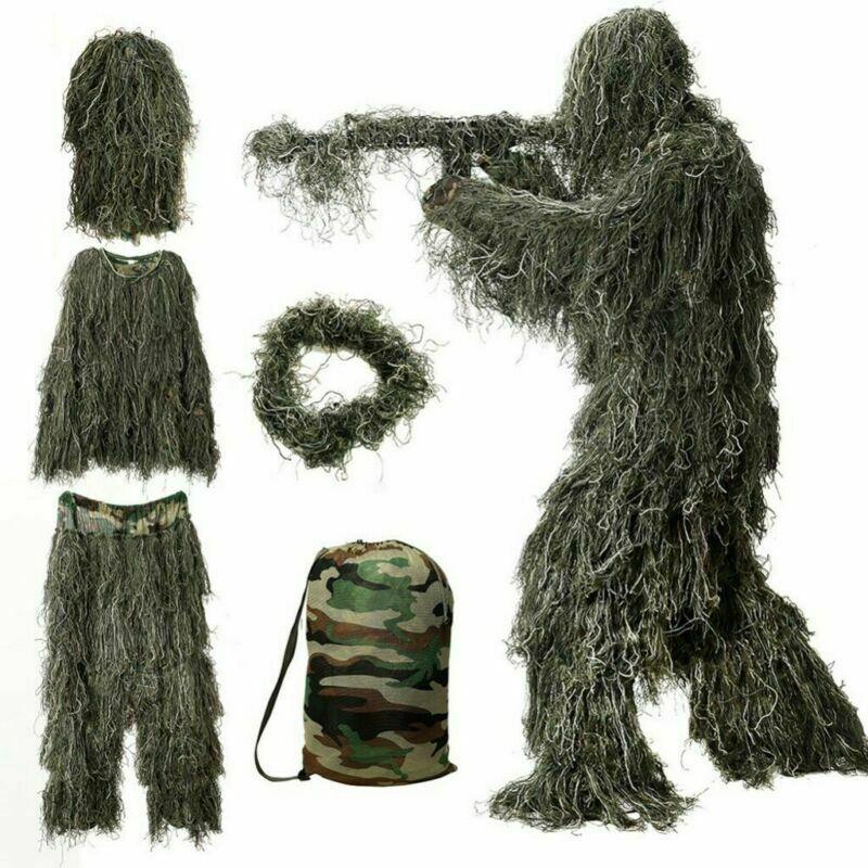 Спорт на открытом воздухе Камуфляж Охота маскировочный костюм скрытный охоты