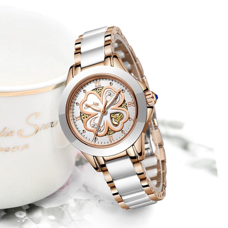 SUNKTA Quartz Women Watches Fashion Waterproof Watches Women Ceramic Bracelet Wristband Watch Girl Clock Relogio Feminino+Bo enlarge