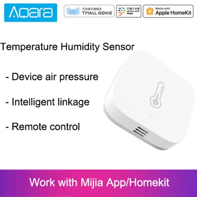 Aqara inteligente sensor de umidade temperatura pressão barométrica trabalho com android ios app controle com xiaomi mi casa app