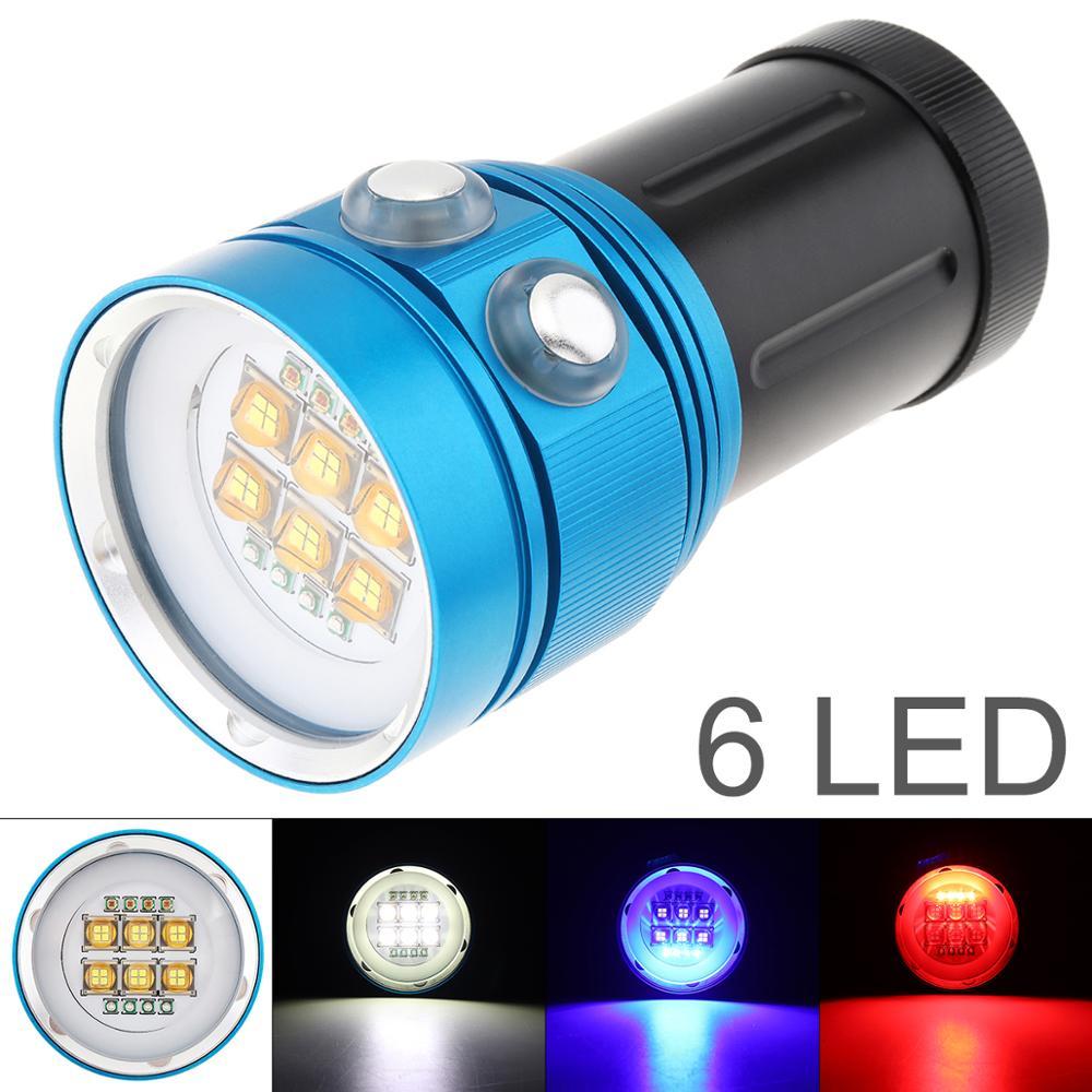Universal Professional Diving Light Underwater 100m Scuba Video Light 150W 15 XML2 LED Photography Video Dive Flashlight