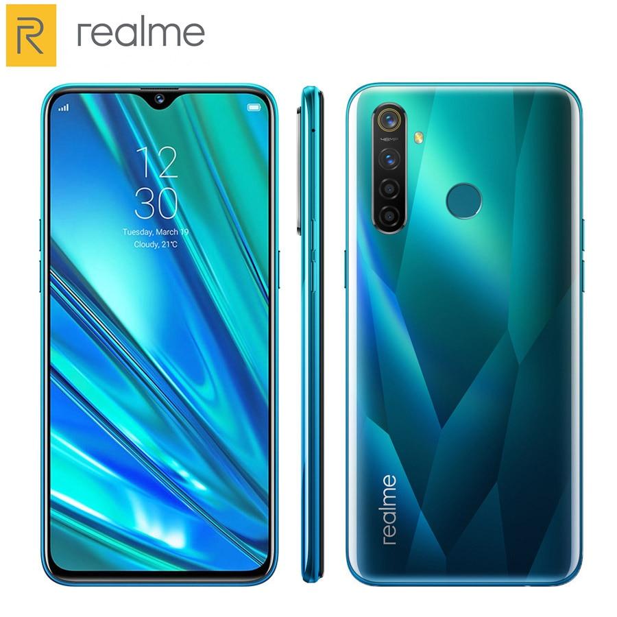 "Versão da ue realme 5 pro telefone móvel 4 gb/8 gb ram 128 gb rom snapdragon712 octa núcleo 6.3 ""1080x2340 p 4035 mah duplo sim telefone android"