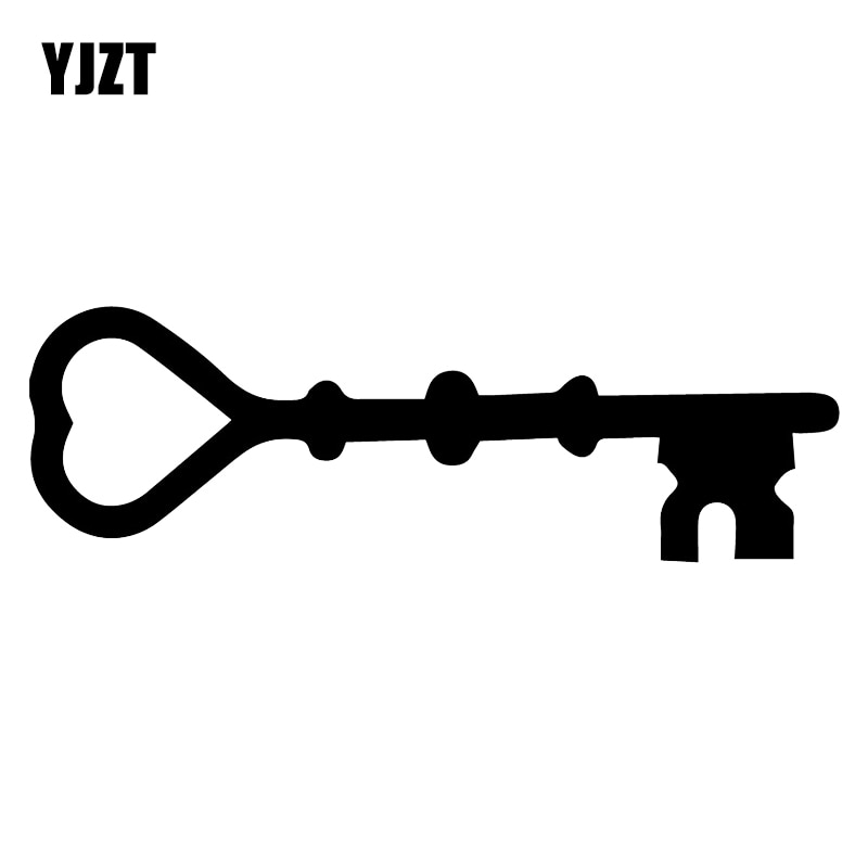 YJZT 16.9X5.3CM Love Key Fashion Door Whole Body Vinyl Decal Car Sticker Accessories C25-0642