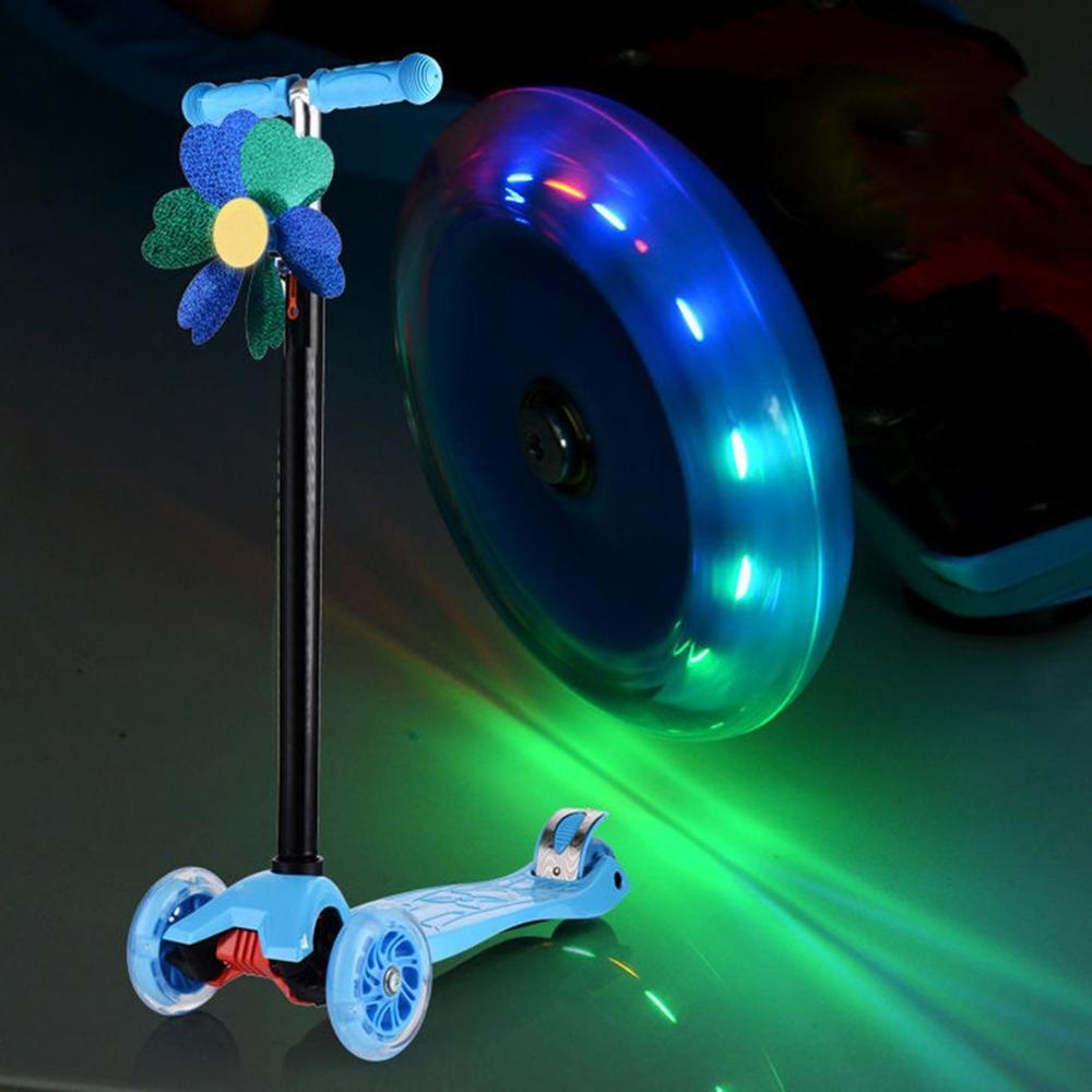 Micro Mini Scooter rueda intermitente luces LED Scooter rueda rodamientos 100mm ruedas de patín 100Mm Led Flash