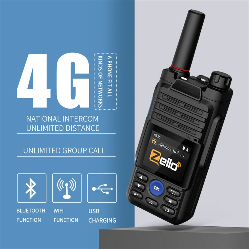 retevis rt51 poc handset radio unlimited distance 4g lte network walkie talkie unlicensed two way radio private group call gps Camoro hf ssb Transceiver 4G Android Zello Network Walkie Talkie WIFI GPS CB Poc Radio 6800mAh Two-way radio Woki Toki 5000 km