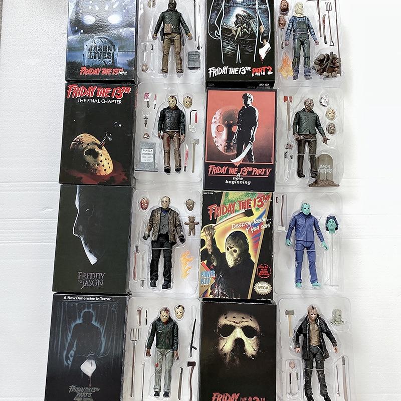 NECA экшн-фигурка Friday The 13th NECA Freddy Jason Voorhees экшн-фигурки Jason Horror фигурка игрушка кукла ужас Рождественский подарок