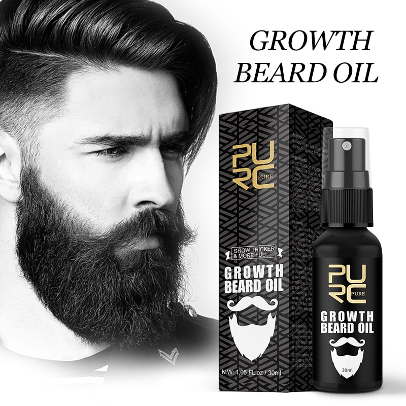 PURC Growth Beard Oil Grow Beard Thicker & More Full Thicken Hair Beard Oil For Men Beard Grooming T