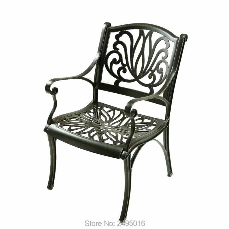 الكثير من 2-قطعة مكافحة الصدأ الصب الألومنيوم الباحة الذراع الطعام كرسي الثقيلة ل حديقة مشرب سطح K/D