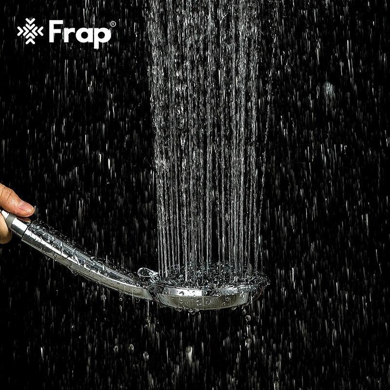 Frap 1 قطعة الضغط فوهة دش رئيس الحمام الاكسسوارات ارتفاع ضغط المياه توفير الأمطار ABS الكروم دش رئيس Y072