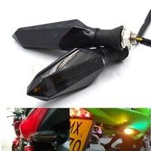 Luces de señal de motocicleta 12V LED señal intermitente para girar la lámpara de advertencia para Triumph DAYTONA 955i velocidad TRIPLE SRINT ST SPRINT TT 600