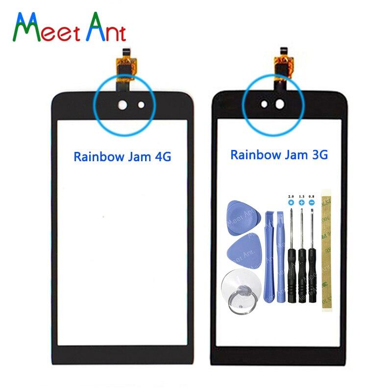 "Reemplazo de alta calidad 4,0 ""para Wiko Rainbow Jam 3G Rainbow Jam 4G Sensor de digitalizador de pantalla táctil Panel de lente de vidrio exterior"