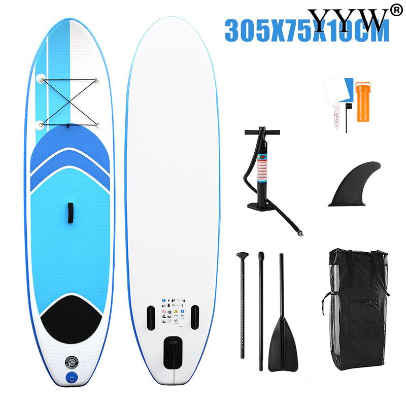 Surfboard 305*75*10cm  Inflatable Sup Stand Up Paddle Board Surf Kayak Boat Leg Leash Dinghy Raft Water Sport Paddle Surf Board 2017 year new inflatable kayak boat surfboard paddle board surf board sup kayak inflatable boat