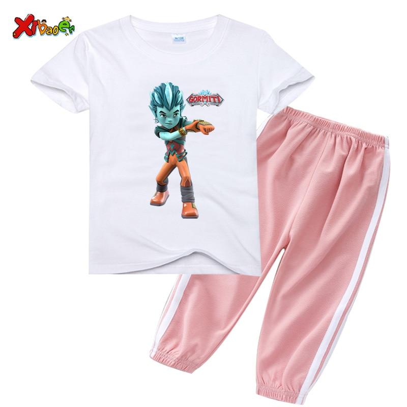 Комплект одежды для маленьких мальчиков, детские летние комплекты детской одежды для девочек, 2 шт., повседневная спортивная одежда, Детский...