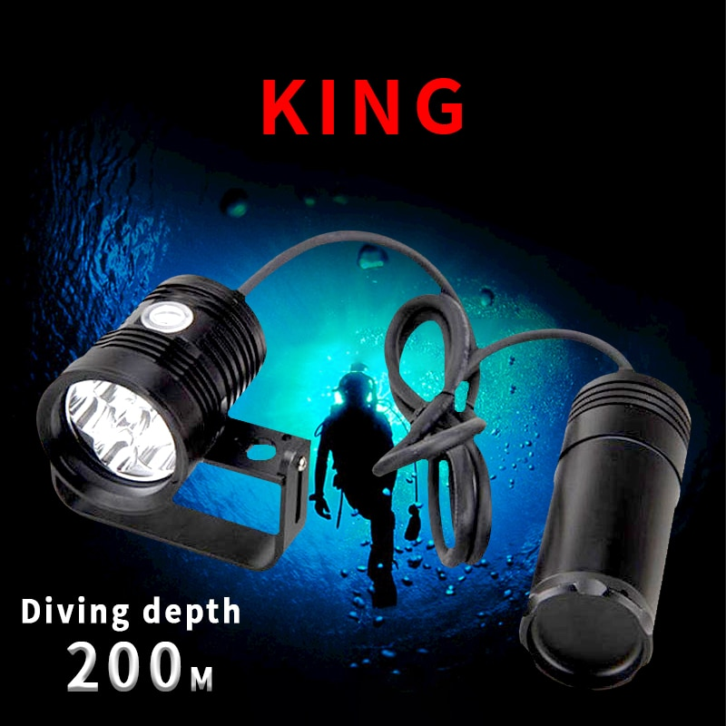 LetonPower Canister Dive Lamp light Technical Diving Highlighted Flashlight6xL2 10000lm Scuba Dive Torch  Underwater LED Lamp enlarge