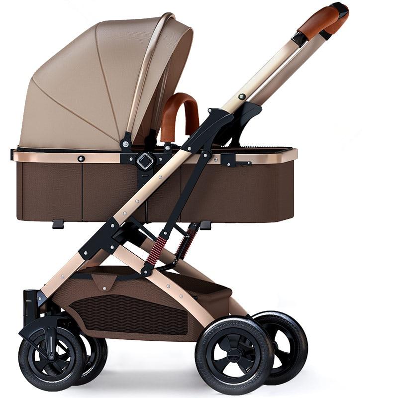 6.9Kg Adjustable Luxury Baby Stroller 3 in 1 Portable High Landscape Luxury Stroller Hot Mom Pink Stroller Travel Pram Pushchair