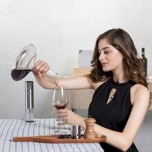 Cercle joie verre rond distributeur de vin Portable Carafe à vin cristal verre vin verseur vin Carafe aérateur pour Bar usage domestique
