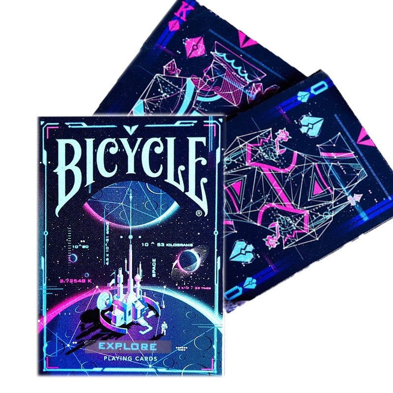 Bicycle Space Base Playing Cards Explore Universe Deck Poker Size USPCC Magic Card Games Magic Props Magic Tricks for Magician magic cards svengali deck atom playing cards poker card games close up stage magic tricks props for magician
