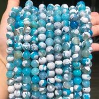 blue fire dragon agates natural stone beads round loose spacer bead for jewelry making diy bracelet necklace 15strand 6810mm