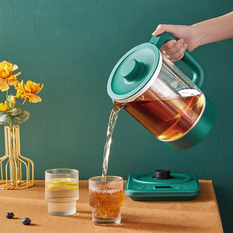 Smart Kettle Heat Resistant Glass Teapot With Stainless Steel Infuser Heated Container Tea Pot Good Clear Filter Basket