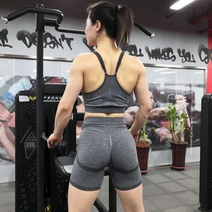 2021 Push Up Seamless High Waist Shorts Women Yoga Shorts Female Gym Workout Tights Fitness Shorts Running Leggings Clothes