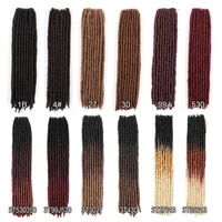 goldenbeauty 18inch straight goddess faux locs crochet braids natural synthetic hair extension 18stands low temperature fiber