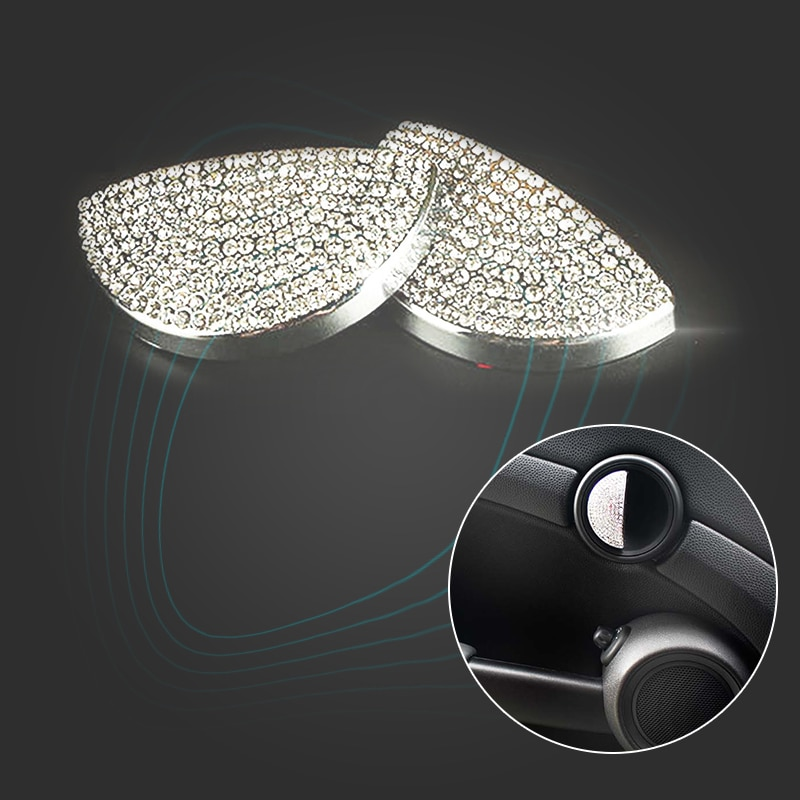 Kjautomax anel para mini cooper r55, r56 interior da porta decoração metal r50 r53 anel r60 r61 cristal