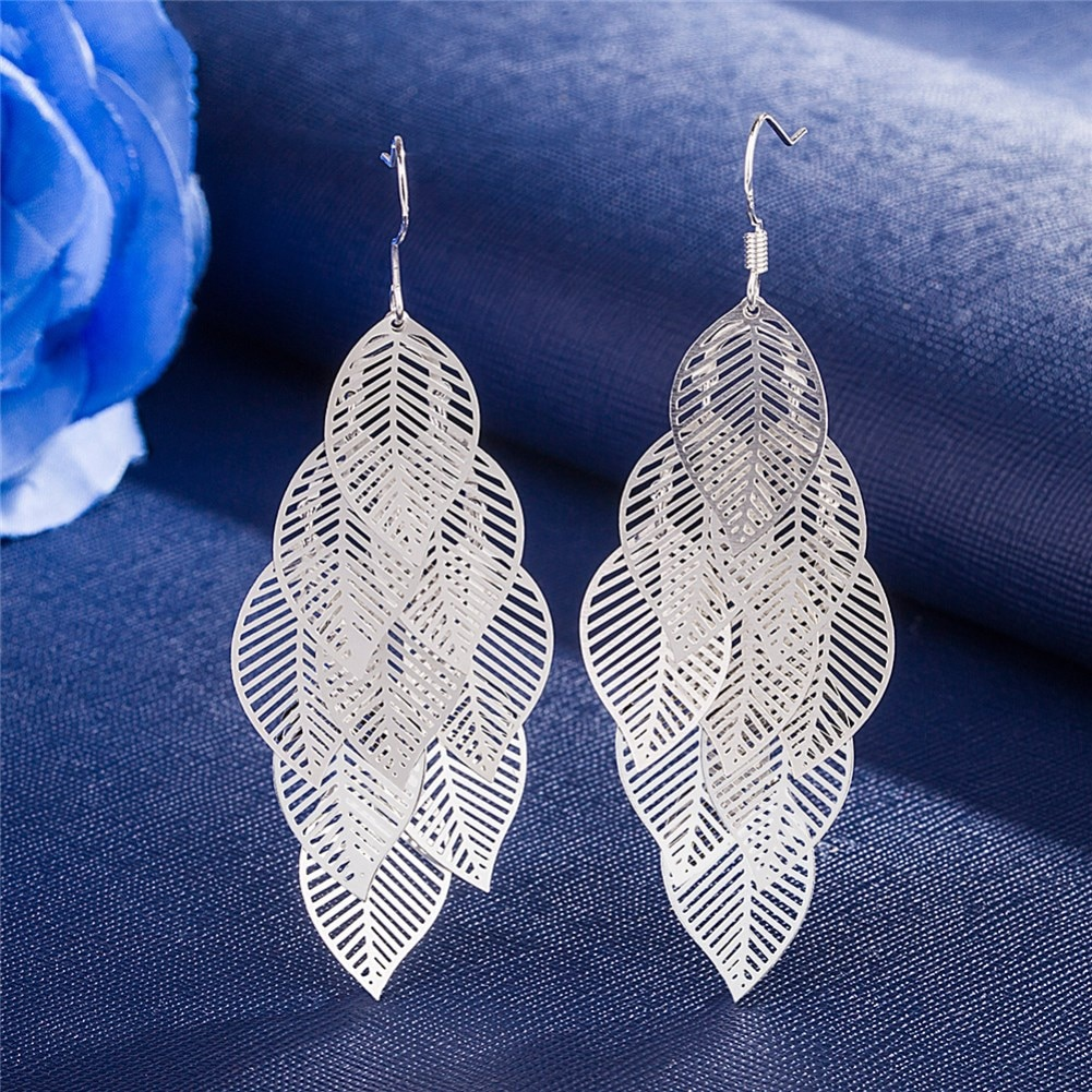 Горячая-925-стерлингового-серебра-многослойное-пустотелыми-листьями-кисточкой-длинные-висячие-серьги-для-женщин-Модные-женские-вечерние-ю