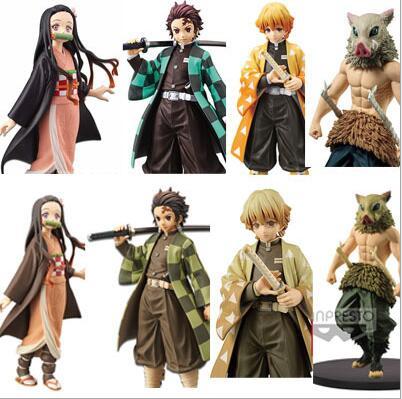Figuras de acción de Demon Slayer, Kimetsu no Yaiba, juguete de colección en PVC para regalo de Navidad, Kamado, Tanjirou, 18cm